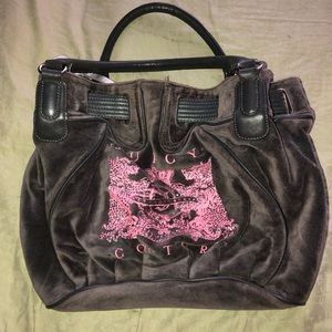 Gray and pink Juicy Couture shoulder bag